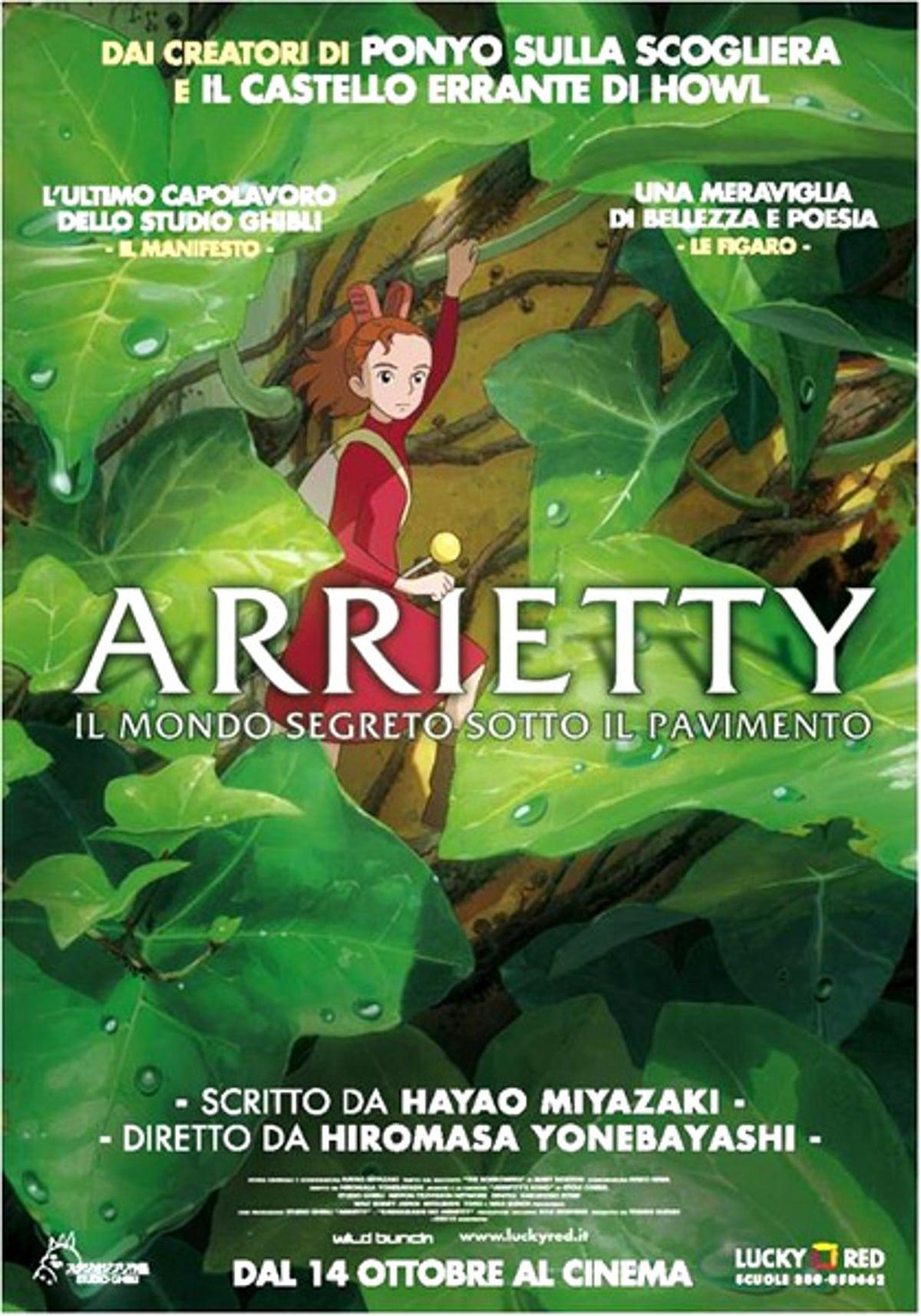 """Poster for the movie """"Arrietty - Il mondo segreto sotto il pavimento"""""""