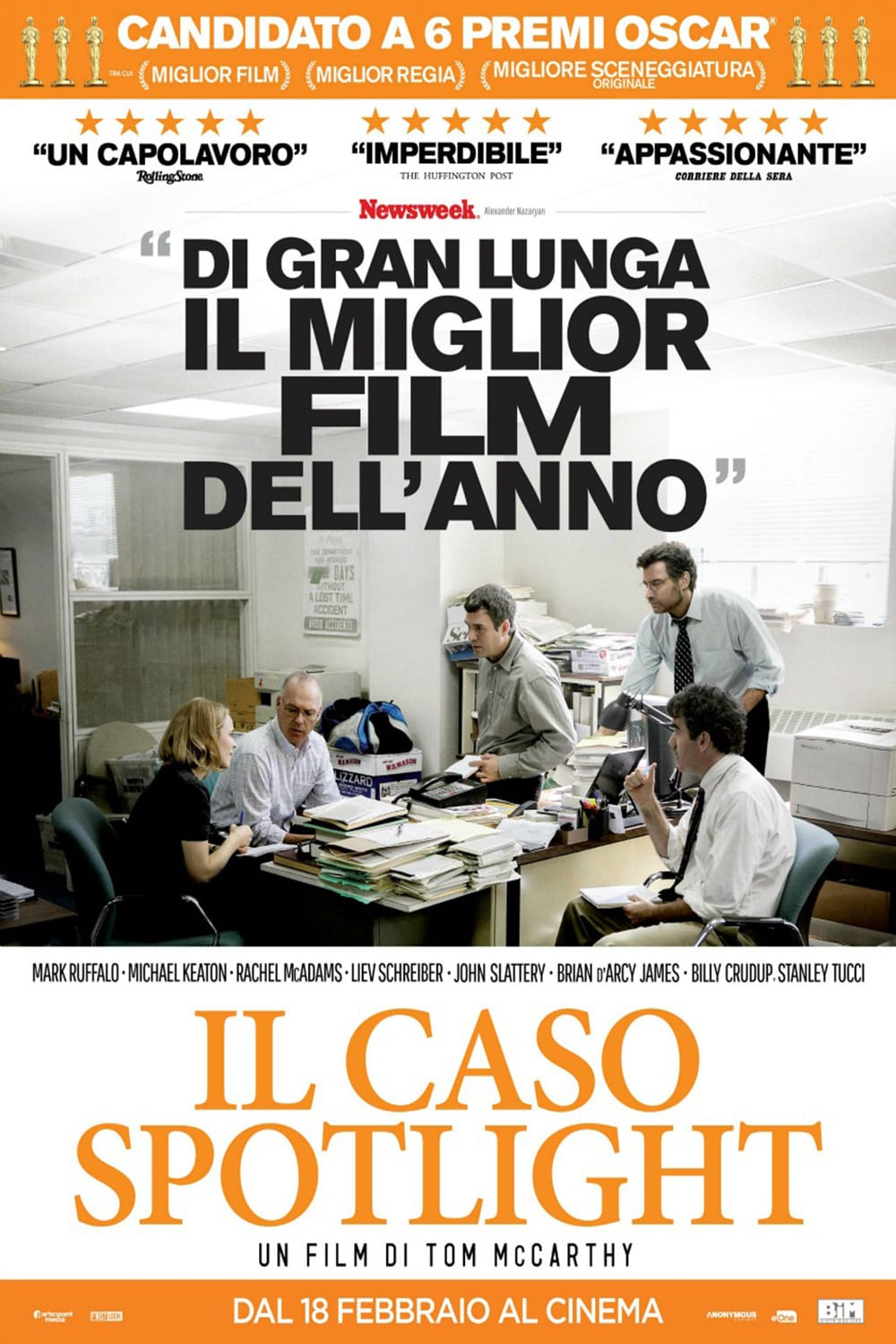 "Poster for the movie ""Il caso Spotlight"""