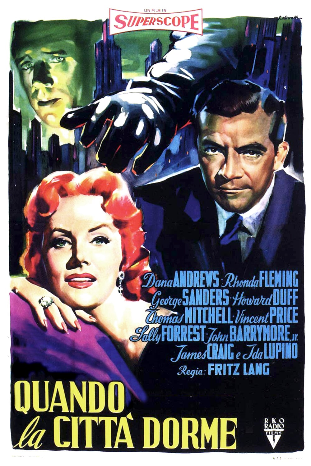 "Poster for the movie ""Quando la città dorme"""