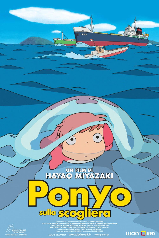 """Poster for the movie """"Ponyo sulla scogliera"""""""